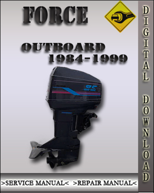 1984 1999 force outboard service repair manual 1985 1986 On local outboard motor repair
