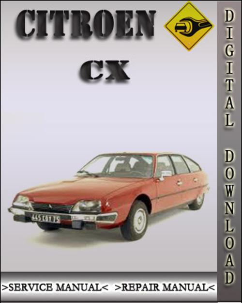 Citroen Cx Factory Service Repair Manual