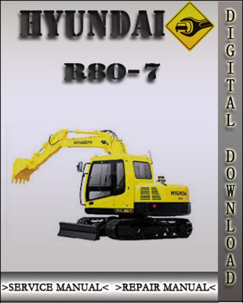 Pay for Hyundai R80-7 Crawler Excavator Factory Service Repair Manual