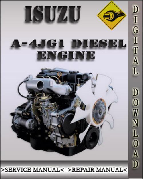 isuzu a 4jg1 industrial diesel engine factory service