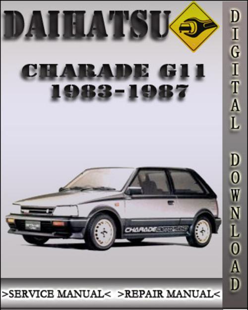 1983 1987 daihatsu charade g11 factory service repair manual 1984 1 rh tradebit com