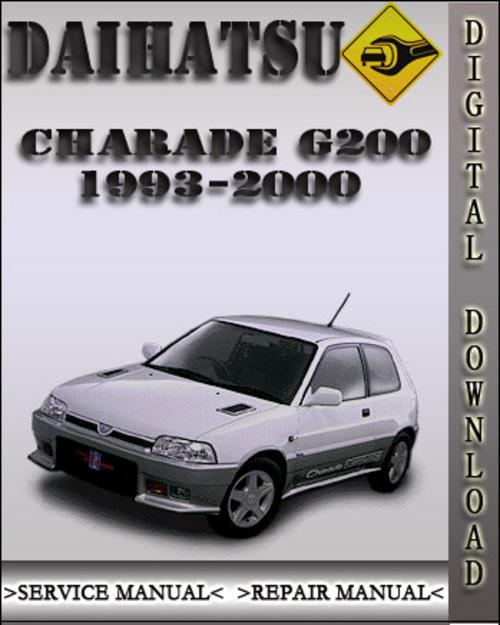 1993 2000 daihatsu charade g200 factory service repair manual 1994 rh tradebit com daihatsu copen service manual pdf Daihatsu Mira