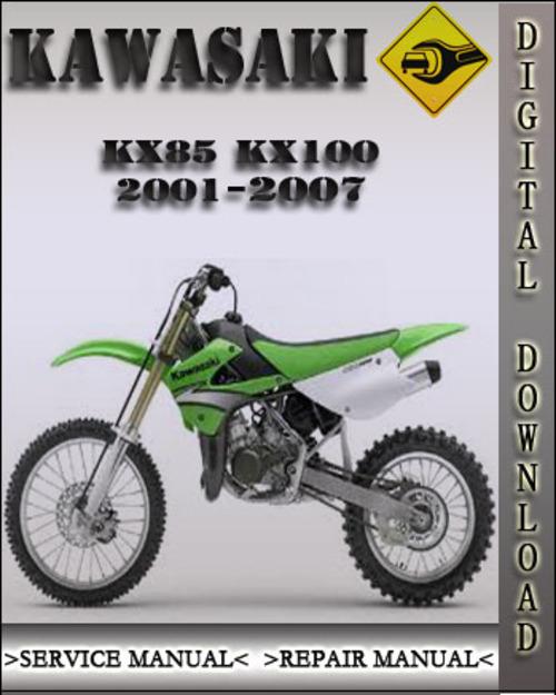 2001 2007 kawasaki kx85 kx100 factory service repair manual 2002 20 rh tradebit com 2008 KX 85 2003 KX 85