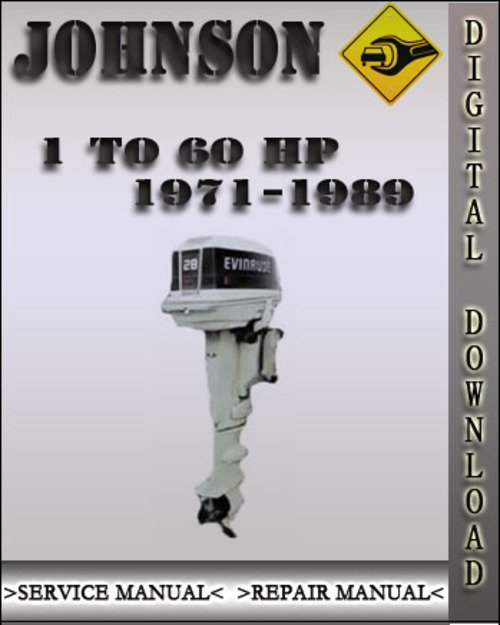 1971 1989 johnson outboard 1 to 60 hp factory service. Black Bedroom Furniture Sets. Home Design Ideas