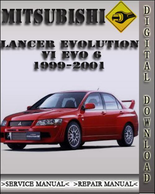 mitsubishi lancer evolution evo 6 workshop manual 1999 2001