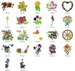 Thumbnail AMAZING FLORAL EMBROIDERY DESIGNS - SET OF 22 - AD COLLECTION