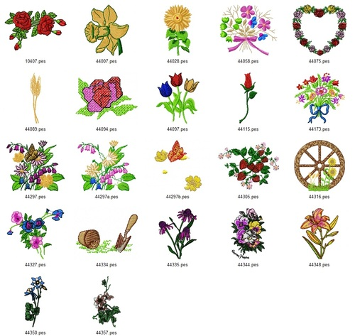 Pay for AMAZING FLORAL EMBROIDERY DESIGNS - SET OF 22 - AD COLLECTION