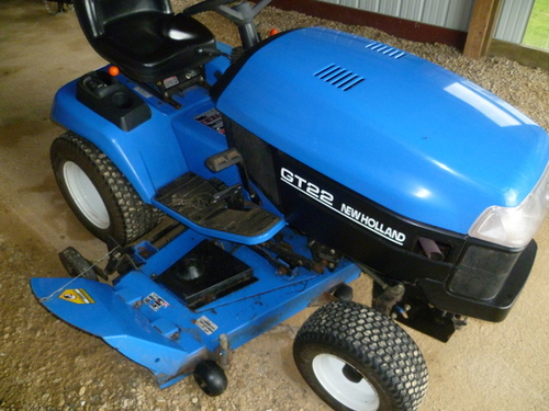 Pay For NEW HOLLAND GT22 GARDEN TRACTOR OPERATORS MANUAL