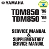 Thumbnail Yamaha_TDM850_96_99  2 in 1  Service_Manual + Supplementary_Service_Manual