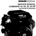 Thumbnail KOHLER Command 18 20 22 25 HP Service Repair Manual Horizontal Crankshaft