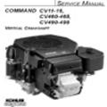 Thumbnail KOHLER Command CV11-16  CV460-465  CV490-495 Repair Service Manual VERTICAL CRANKSHAFT
