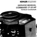 Thumbnail KOHLER Command 17 25 HP Repair Service Manual Vertical Crankshaft