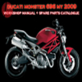 Thumbnail DUCATI MONSTER 696 MY 2009 Service Repair Manual + Parts Catalogue