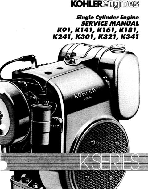 kohler service repair manual k series k91 k141 k161 k181 k241 k301 rh tradebit com kohler owners manual for cub cadet kohler owners manual cub cadet