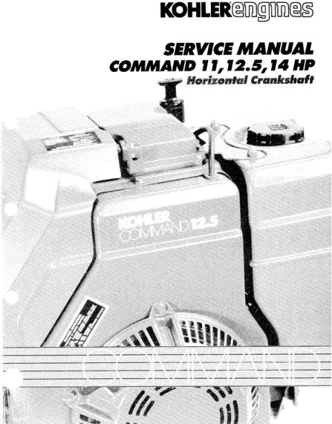 kohler command 11 12 5 14 hp service repair manual horizontal crankpay for kohler command 11 12 5 14 hp service repair manual horizontal crankshaft