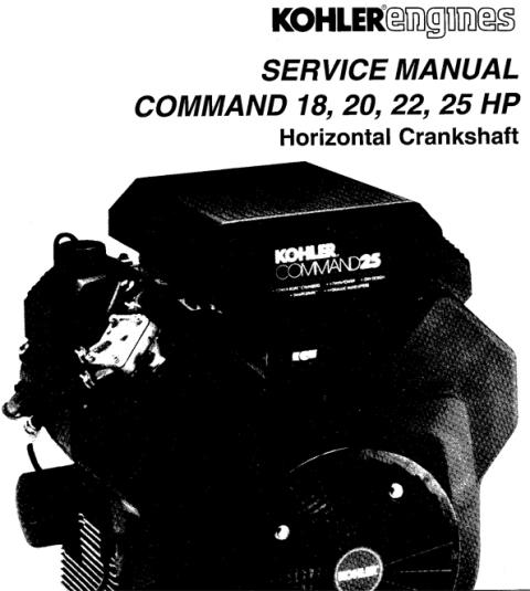 Pay for KOHLER Command 18 20 22 25 HP Service Repair Manual Horizontal Crankshaft