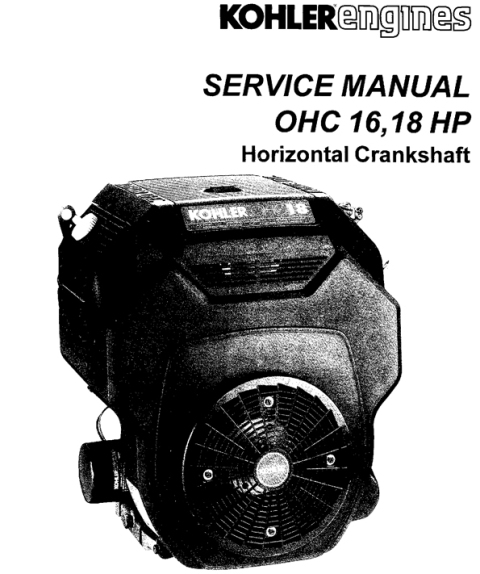 Kohler Ohc 16hp 18hp Th16 Workshop Service Repair