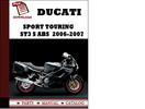 Thumbnail Ducati Sport touring ST3 S ABS parts manual (catalogue) 2006 2007 Pdf Download ( English,German,Italian,Spanish,French)