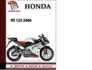 Thumbnail Aprilia RS 125 2006 Workshop Service Repair Manual Pdf Download