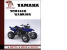 Thumbnail Yamaha Yfm350X Warrior Workshop Service Repair Manual Pdf Download