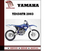 Thumbnail Yamaha YZ450FR 2003 Owners Service Repair Manual Pdf Download