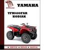 Thumbnail Yamaha YFM400FAR Kodiak Workshop Service Repair Manual Pdf Download