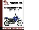 Thumbnail Yamaha XT660R XT660RX 2004 2005 2006 2007 2008 Workshop Service Repair Manual Pdf Download