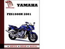 Thumbnail Yamaha FZS1000N 2001 Workshop Service Repair Manual Pdf Download