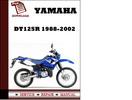 Thumbnail Yamaha DT125R 1988-2002 Workshop Service Repair Manual Pdf Download