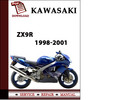 Thumbnail Kawasaki ZX9R 1998 1999 2000 2001 Workshop Service Repair Manual Pdf Download