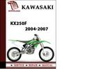 Thumbnail Kawasaki KX250F 2004 2005 2006 2007 Workshop Service Repair Manual Pdf Download