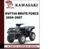 Thumbnail Kawasaki KVF750 Brute Force 2008 2009 Workshop Service Repair Manual Pdf Download