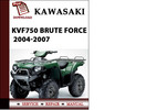 Thumbnail Kawasaki KVF750 Brute Force 2004 2005 2006 2007 Workshop Service Repair Manual Pdf Download