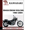 Thumbnail Kawasaki EN450 EN500 Vulcan 1985-2004 Workshop Service Repair Manual Pdf Download