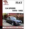 Thumbnail Fiat 124 Spider 1978 - 1982 Workshop Service Repair Manual Pdf Download