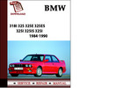 Thumbnail BMW 3 Series 318i 325 325e 325es 325i 325is 325i Convertibile Service Repair Manual 1984 1985 1986 1987  1988 1989 1990