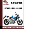 Thumbnail Suzuki SFV650 2009 2010 Workshop Service Repair Manual Pdf Download