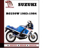 Thumbnail Suzuki RG250W 1983 1984 Workshop Service Repair Manual Pdf Download