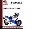 Thumbnail Suzuki RG250 1987 1988 Workshop Service Repair Manual Pdf Download