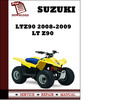 Thumbnail Suzuki LTZ90 2008 2009 Workshop Service Repair Manual Pdf Download LT Z90