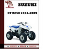 Thumbnail Suzuki LT Z250 2004 2005 2006 2007 2008 2009 Workshop Service Repair Manual Pdf Download