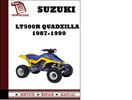 Thumbnail Suzuki LT500R QuadZilla 1987 1988 1989 1990 Workshop Service Repair Manual Pdf Download