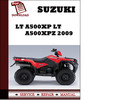 Thumbnail Suzuki LT A500XP LT A500XPZ 2009 Workshop Service Repair Manual Pdf Download