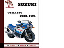 Thumbnail Suzuki Gsxr750 1988 1989 1990 1991 Workshop Service Repair Manual Pdf Download