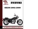 Thumbnail Suzuki GZ250 2002 2003 2004 2005 2006 2007 2008 2009 Workshop Service Repair Manual Pdf Download