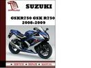 Thumbnail Suzuki GSXR750 GSX R750 2008 2009  Workshop Service Repair Manual Pdf Download