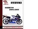 Thumbnail Suzuki GSXR750 2004 2005 Workshop Service Repair Manual Pdf Download