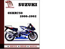 Thumbnail Suzuki GSXR750 2000 2001 2002 Workshop Service Repair Manual Pdf Download