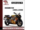 Thumbnail Suzuki GSXR750 1993 1994 1995 Workshop Service Repair Manual Pdf Download