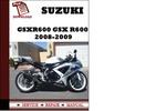 Thumbnail Suzuki GSXR600 GSX R600 2008 2009 Workshop Service Repair Manual Pdf Download